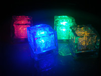 Wholesale square CM button Waterproof LED colorful ice cubes