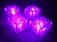 Wholesale mm LED waterproof luminous ice induction ice cubes