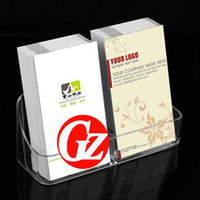 Wholesale High vertical Card Case PS Organic Plastic Transparent Personalized Business Card Holder
