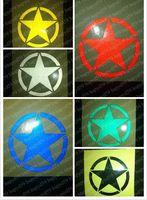auto world cars - 2pcs World War II five star military mark mountain bike Bicycle transfer sticker reflective sticker auto car motorcycle bike stickers
