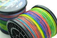 Wholesale 1 M Multicolour PE BRAID FISHING LINE strands high power PE line fishing tackle lbs lbs