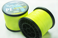 braid fishing line - 1pcs M YELLOW PE BRAID FISHING LINE strands Spectra Floating line Fishing Tackle powerful LB LB