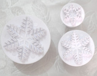 Wholesale 3 in Set Snowflakes Cookie Cutters Pastry Decoration Molds Food grade resin material