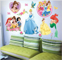 Wholesale princess girl room Nursery art peel and stick art wall sticker decal x60cm F144