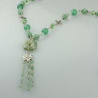 Tanglin jade chinese jade jewelry - Su yuan jade necklace long sweater chain female original Chinese style handmade jewelry jade necklac