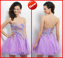 Wholesale 2013 Hot Sale Delicate Sexy sweetheart crystal Mini A line organza lace up Party Cocktail Homecoming Prom Dresses