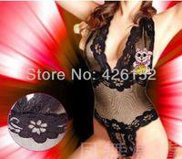 leotard sex - Deep V cleavage lace Siamese Sex Underwear transparent Sophie Lace leotard hot explosion models