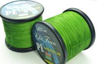 0.4-8.0 fishing line - 1000m PE GREEN BRAID FISHING LINE Top Grade Japanese high quality strands Fishing Tackle LB LB