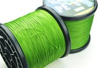 Wholesale Top Grade japanese GREEN m PE BRAID FISHING LINE Fishing Tackle LURE LB LB LB LB LB