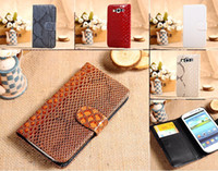 Wholesale Snake PU leather book book type cell phone case for Apple Iphone4s