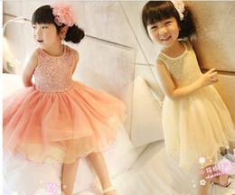 Wholesale Summer kids princess dress children clothing new style Bitter fleabane bitter fleabane sleeveless girls dresses colour size