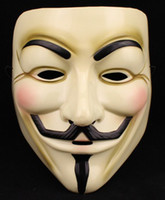 Wholesale V vendetta team guy fawkes masquerade Halloween carnival Mask adult size
