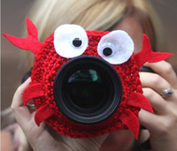 Wholesale Crochet Camera lens buddy for baby Crochet lens critter SLR Camera Lens Buddies lens jacket Photographer helper Photography props free ship
