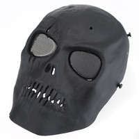 Wholesale 20 Skull Skeleton Army Airsoft Paintball BB Gun Full Face Game Protect Safe Mask