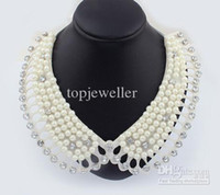 Wholesale 2013 Fashion Costume Jewelry Necklace Elegant Cloth Art Handmade Beaded Collar Necklace