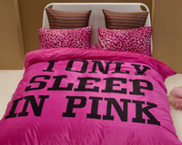 Wholesale Hot Selling Sleep in Pink Rose Leopard Printed Flat sheet Bedding sets Queen size Doona cover set Bed in a bag