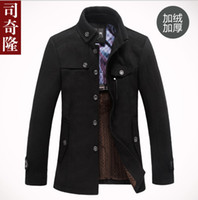 Men Full_Length Wool Blend 2013 High Quality Brand Jacket for men coats new casual mens thicken woollen jackets coat fashion men's jacket men overcoat winter jacket