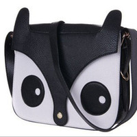 leather owl purse - Fashion Women Retro Fox Owl Shoulder Bag Messenger School Satcher Tote PU Purse Handbag Black Blue Red Pink
