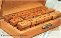 Wholesale Day workshop DIY album essential new retro do the letters of the old wooden box seal grouP