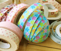 Wholesale Creative DIY decorative printed cotton tape fabric floral colored tape