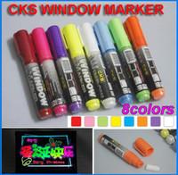 Wholesale 8colors quot CKS WINDOW MARKER quot Fruity Color Oblique Head Highlighter Pen Marker Pen