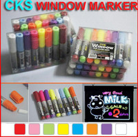 Wholesale quot CKS WINDOW MARKER quot Highlighter Pen Market Led Fluoresent Board Writing Pen Marker Pen colors