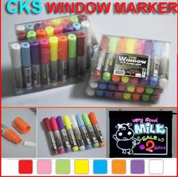 """CKS WINDOW MARKER"" Highlighter Pen Market Led Fluoresent Board Writing Pen Marker Pen 8colors 24pcs"
