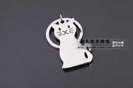 Wholesale Metal Cartoon Cat Keychain Key Rings Key Pendant Hot Gift Souvenir Fashion Adornment