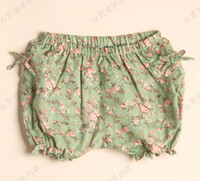 Wholesale Girl Clothes Flower Shorts Child Clothing Fashion Bloomers Linen Pants Kids Knickerbockers Girls Shorts Children Casual Pants Summer Shorts