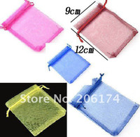 Wholesale Chinese Christmas Wedding voile gift bag flower Organza Bags Jewelry packing Gift Pouch