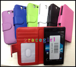 Wholesale Wallet Leather case Credit Card Bag Purse Pocket Stand photo Money clip Holder book Pouch For Sony Ericsson Xperia Z L36H C6603 skin