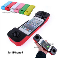 Wholesale 20PCS Magic Loudspeaker Protection Case Cover Handset Speakerphone Loud Speaker Subwoofer My Tone for Apple iPhone5 iPhone Mixed Colors