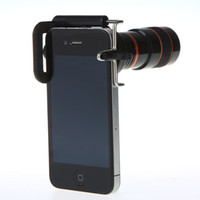 Wholesale 8X Zoom Universal Telescope Long Focal Camera Lens for iPhone Mobile Phone with Mini Tripod Holder