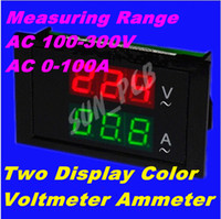 Wholesale Digital AC voltmeter ammeter AC V Voltage Meter Current Meter in Panel Meter Voltmeter Ammeter AC0 A