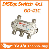 Wholesale 1pc Original Gecen x1 Satellite DiSEqC Switch Gecen GD C for satellite receiver with high quality Post