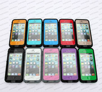Wholesale Waterproof case for iphone Water Proof Snow Dirt Shock Proof Cases colors netural packing