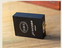 Wholesale Wool jewelry box antique vintage wooden jewelry box wooden collection bracelet box gift