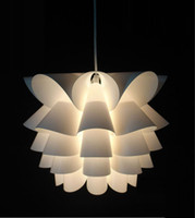 Wholesale DIY Modern Lotus Plastic Pendant Lamp Dining Living Room Suspension Hanging Light Bedroom Small size Plastic Corrider Balcony Pendant Lamp