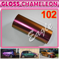 auto body decoration stickers - Chameleon vinyl wrap Stickers Wraping Sticker film decals for all car auto body parts decoration with air free bubble x30Meters