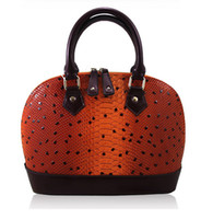 Women Animal Print Genuine Leather 2013 Fashion Designer Hard Shell Bag Korea Simple Style Tote Bag Snake Skin Real Leather Lady Handbag High Quality Wholesale 3color Hot Sale