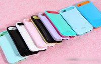 Plastic i-glow cases - i Glow Case PC Soft Back Shell Cover with Card Storage for iphone G i glow