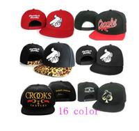Wholesale 16 color Mr Crooks and Castles Baseball Snapback hat adjustable hiphop hip hop cap BBOY