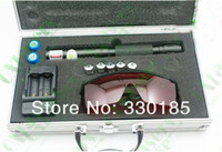 Wholesale nm w mw metal cased in1 burning focusable blue laser pointers star caps free safety glasses