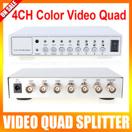 Wholesale 4CH COLOR VIDEO QUAD PROCESSOR CCTV CAMERA SYSTEM