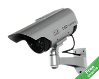 Wholesale Solar Power Dummy Fake Outdoor Home CCTV Security Camera Solar Decoy Camera
