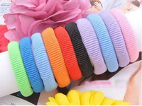 Wholesale 48pcs mixed colors towel soft elastic ties Ponytail Holders Scrunchies Rainbow colorful ponies Hair Accessories