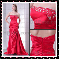 Wholesale 2012 Cheap Wedding Dress Strapless Sequin Beaded Zipper Plus Size Evening Dress