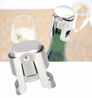 Wholesale Stainless Steel Liquor Spirit Pourer Free Flow Wine Champagne Bottle Cap Stopper H0122