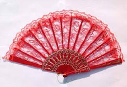 Wholesale 2013 hollown Spain lace dance Wedding hook flower Cloth Fold fan Belly Dance costume accessory