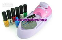 nail color machine - Nail Art DIY Printing Machine Stamping Set Polish Color Nail Art Stamping set Acrylic paint Tips